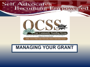 Cover of Managing your grant powerpoint