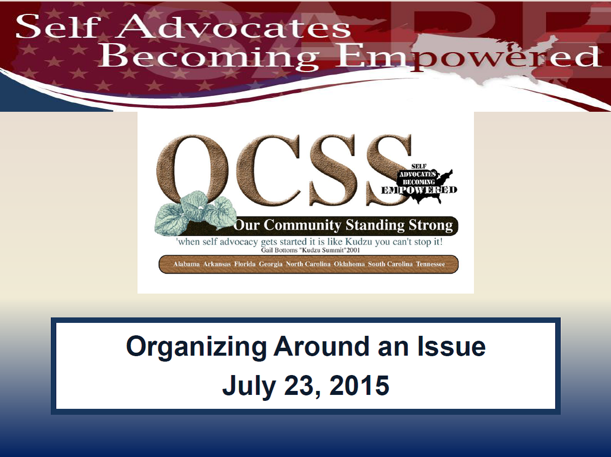Cover of Organizing Around an Issue Powerpoint