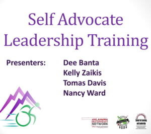 Cover of Self Advocate Leadership Training