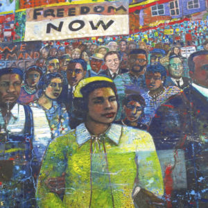 Mural of the civil rights movement.