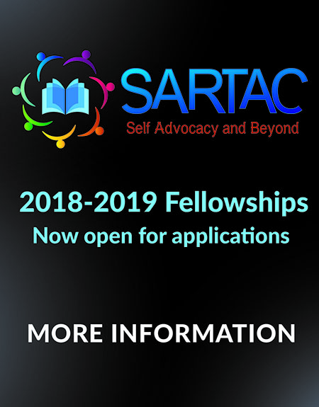 black box with text about 2018-2019 SARTAC fellowship application