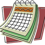 drawing of calendar page